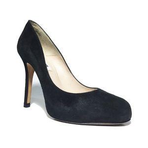 LK Bennett Size 37 Sledge  Suede Almond Toe Pumps